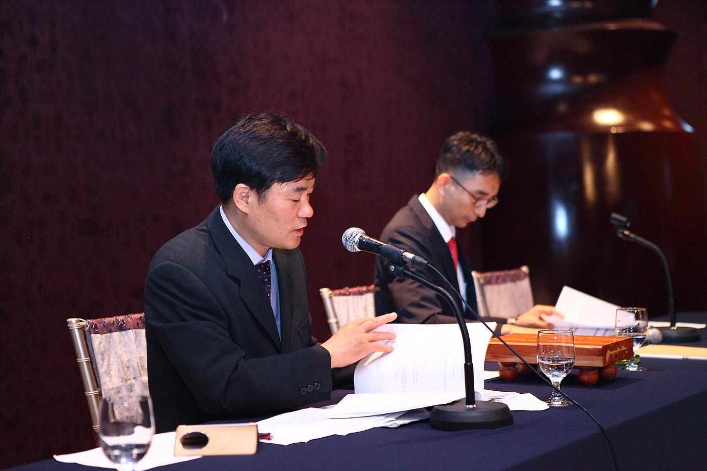 사업 목표를 발표 중인 박재석 25대 연합회 사무처장